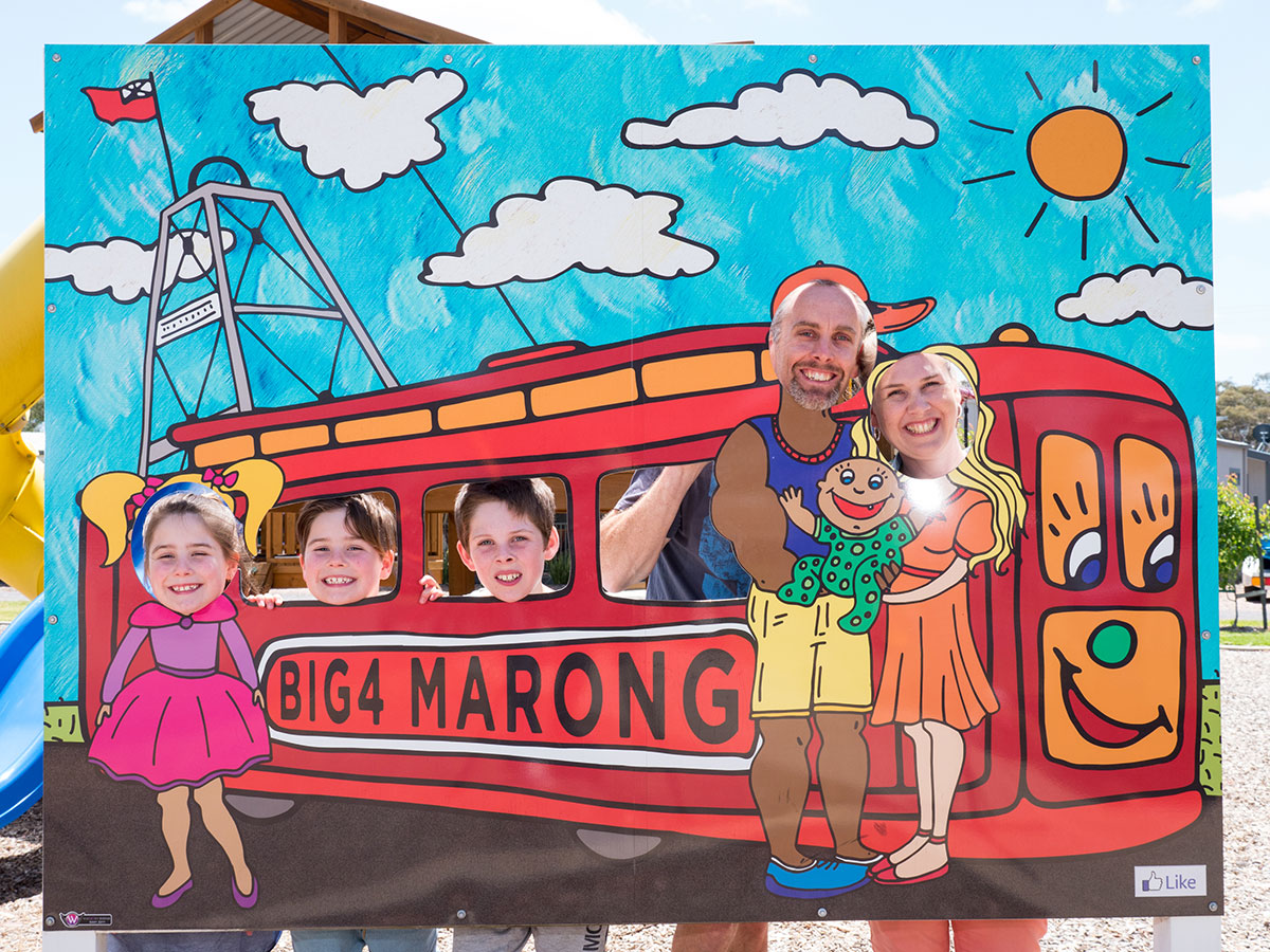 All aboard for holiday fun at BIG4 Bendigo Marong Holiday Park.
