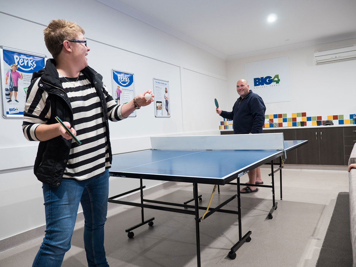 Spacious Recreation Room with Table Tennis.